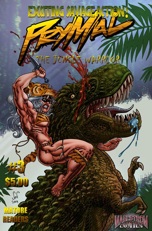 PTJW3B Prymal: The Jungle Warrior #3 Alternate Cover #1 (3rd Print)