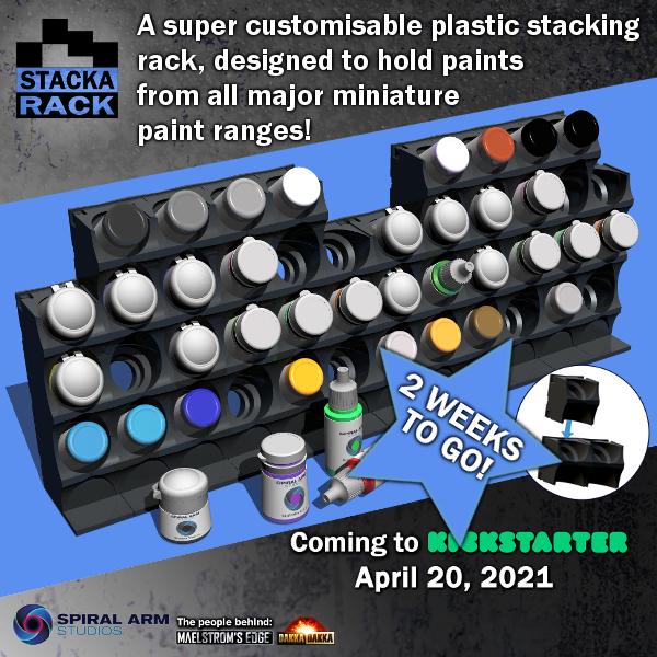 customisable plastic paint rack