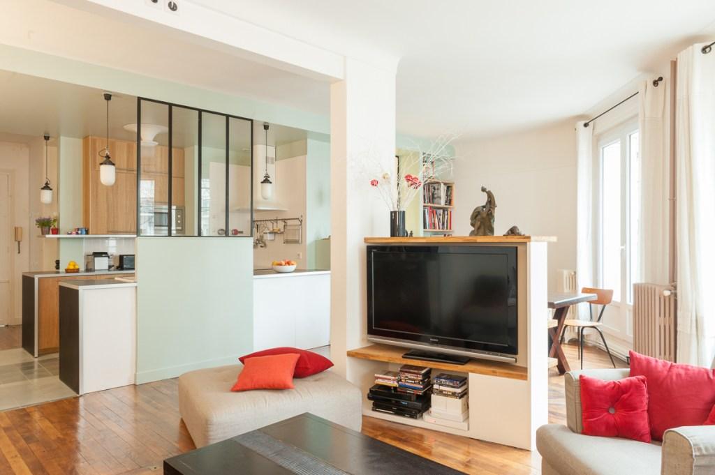 Appartement farjo coeur de cuisine ma ma architectes - Decoration cuisine avec ouverture sur le salon ...