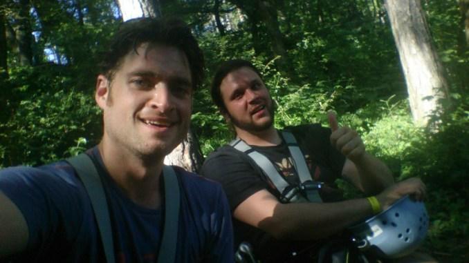 Thomas und Wolfi nach dem kräfteraubenden Parcours