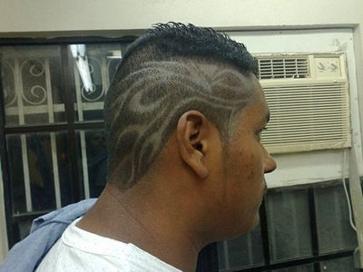hair tattoo mit iron mike tyson schnitt