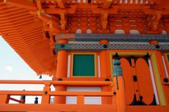 Temple d'un rouge éclatant