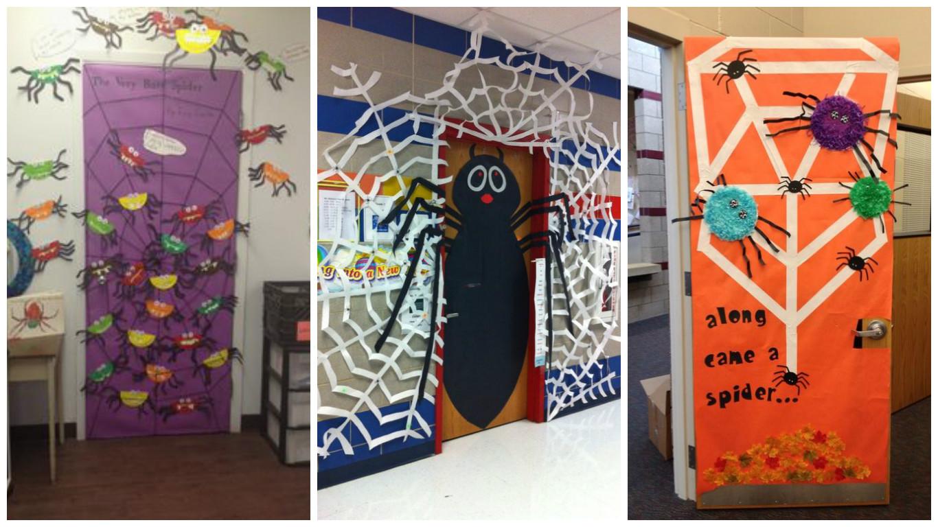 porte de classe pour halloween