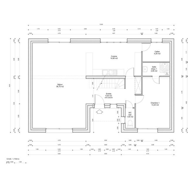 plan maison r+combles