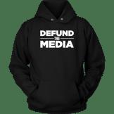 Defund the Media Black Hoodie for sale