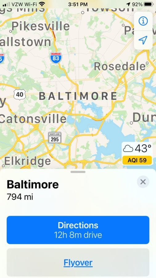 """Directions To DC In Advance Of Massive Trump Stop The Steal Rally Suddenly Become """"NOT AVAILABLE"""" On Apple Maps"""