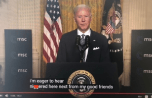 """WATCH: Biden Accidentally Utters The """"N"""" Word During Speech, Even Closed Captioning Picks it Up"""