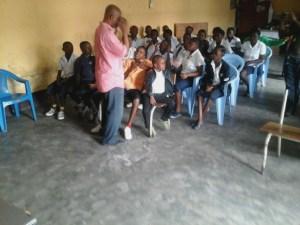 Kinshasa: des enfants lors de cette cérémonie.
