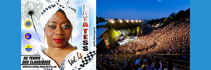 """La chanteuse Faya Tess et des Cubains en concert """"Nuit de la Rumba"""",3 juillet 2016 à Lyon: une couronne internationale de plus sur sa tête."""