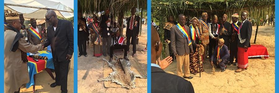 """Intronisation du """"Mfumu"""" Mafulagenge,chef de Ngudiabaka et Nsabuka (province Kongo Central, RDC)."""