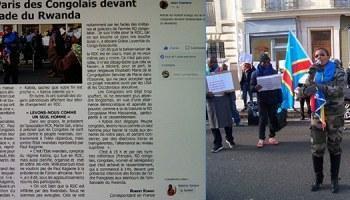 Rassemblement à Paris des Congolais devant l'ambassade du Rwanda.