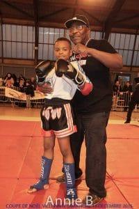 Pierre Muzembo et son fils Fred, champion de France (Kick Boxing /Boxe Thai).
