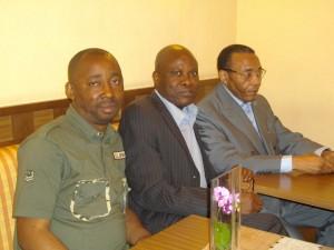 Emile Kalema, Lilo Miango et Victor Mpoyo (été 2012, Paris).