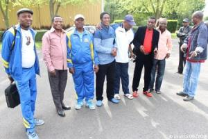 De g. à dr. 2éme Mobezo, Benjamin Yenga, Mbungu Tyti, Bobutaka, Mukoko Madison, Silo Kami au tournoi de football U15 à Neuilly-Plaisance. (Mars 2015)