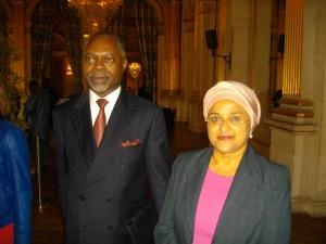 L'ambassadeur angolais Miguel Da Costa et Mme l'ambassadeur de Tanzanie.