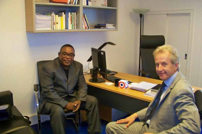Kongo et le député français Philippe Baumel (Socialiste), membre du groupe Amitié France-RDC.