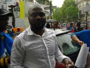 Le résistant Patchely, Paris,28 mai 2016,lors de la marche «Je suis BENI».