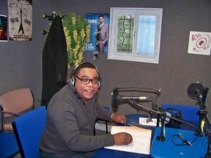 Robert Kongo à la Radio Vexin (Archives R.Kongo)