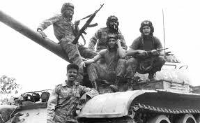 Des soldats cubains et angolais à la bataille de Cuito Cuanavale.
