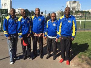 Des membres de RSI:g.à dr. Kimbembe Kimbley,Mbungu, Nono, Kadima, Eloni.