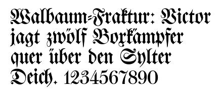 Fraktur_walbaum font