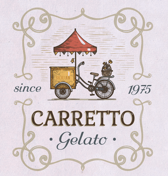 as the new-meets-old logo for Carretto Gelato