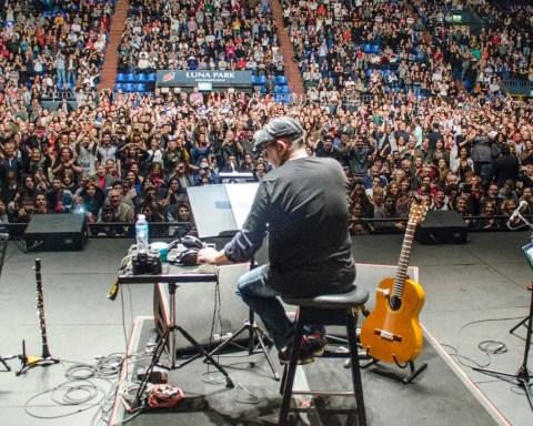 Concierto de Silvio Rodríguez en el Luna Park, Buenos Aires, Argentina, octubre de 2018. Foto: Kaloian.