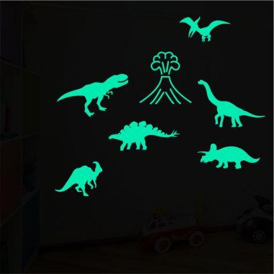 Adesivo Brilha No Escuro Dinossauros