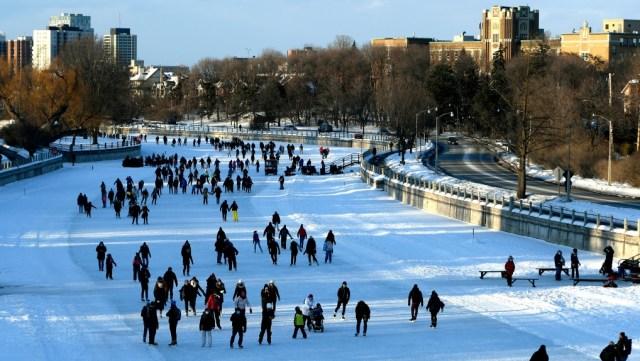 El Rideau Canal Skateway cerrará temporalmente por clima más cálido