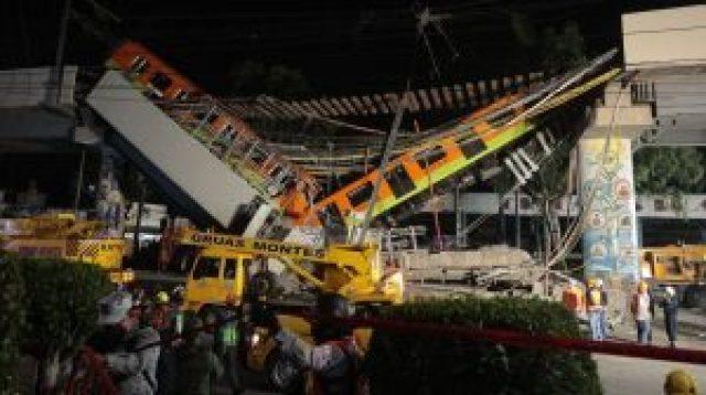 Colapso de una vía elevada del metro en México deja al menos 23 muertos