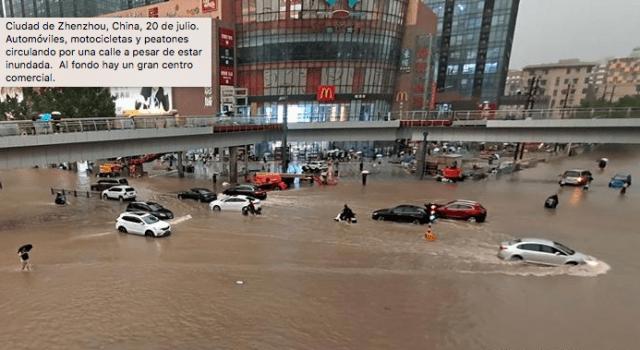 Fuertes lluvias provocan inundaciones mortales en China