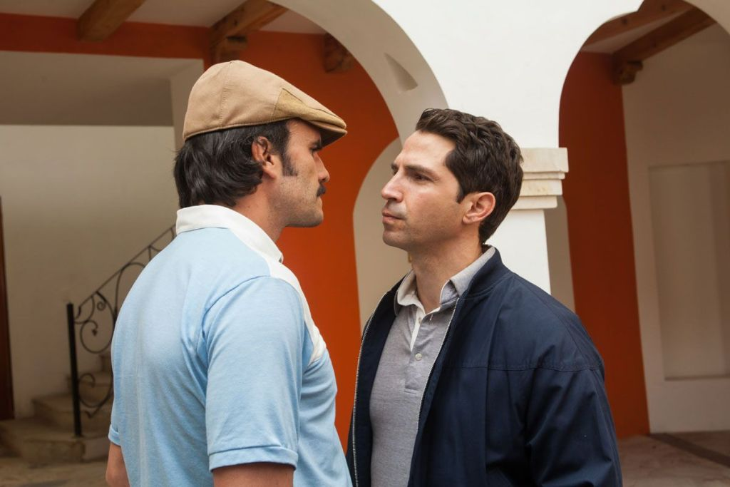 Juan Pablo Raba and Maurice Compte star in NARCOS.
