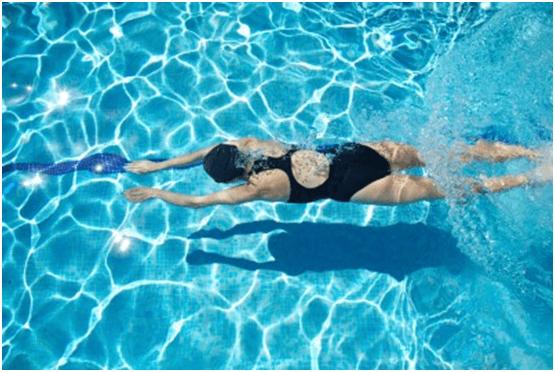 swimming suit, swimming costume, swimming routine