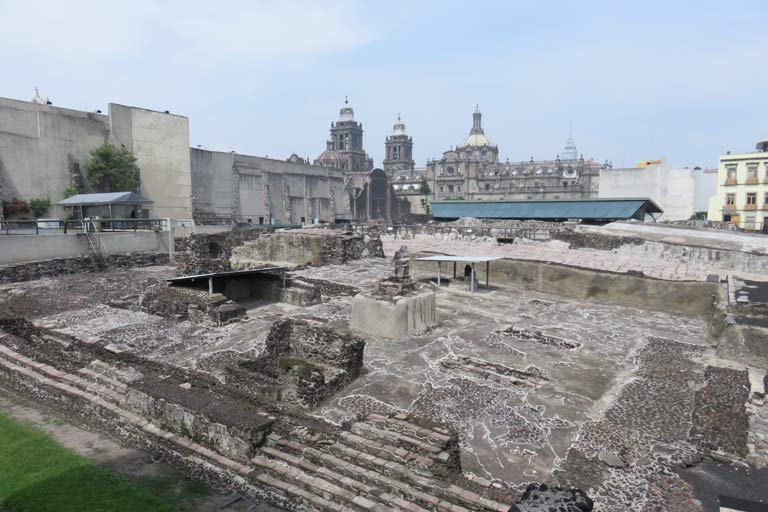 Templo Mayor - a partly renovated 13th-century Aztec temple