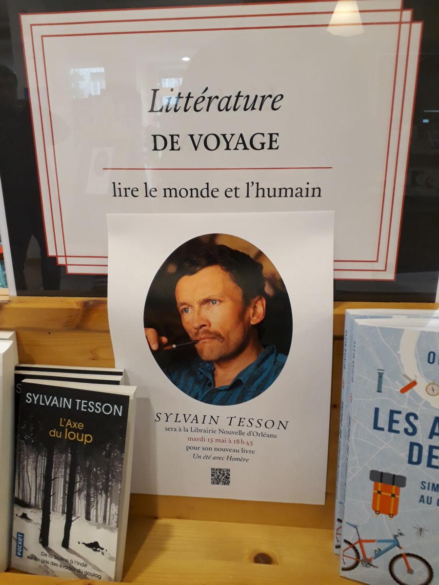 sylvain tesson a la librairie nouvelle