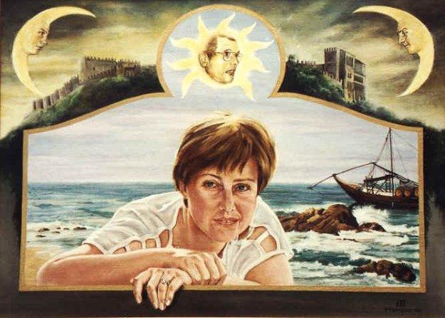 Portret van Irma Joosten, olieverf op paneel, 75x55cm