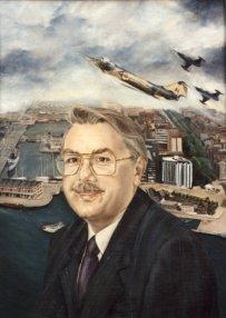 Portret van Paul Bosmans, olieverf op paneel, 55x70cm