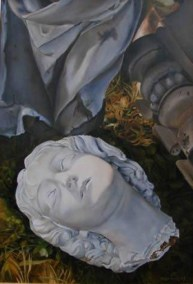 De Gevallen Engel, olieverf op paneel, 62x45cm