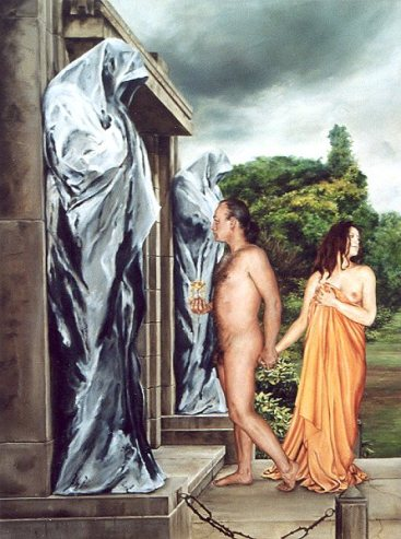 La Mort des Amants, olieverf op paneel, 64x82cm