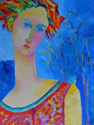 Obraz tytuł Afrodyta Wenus_autorka_Magdalena_Walulik_portret kobiety_ obraz olejny_ malarstwo