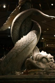 A sea serpent on the Lower Promenade Deck.