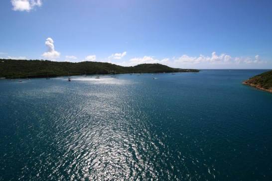 Next morning, we all awoke to this view of the harbor at Charlotte Amalie, St. Thomas in the U.S. Virgin Islands.