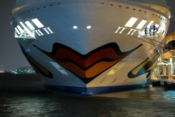 This ship was docked next to ours in San Juan. Nice paint job.