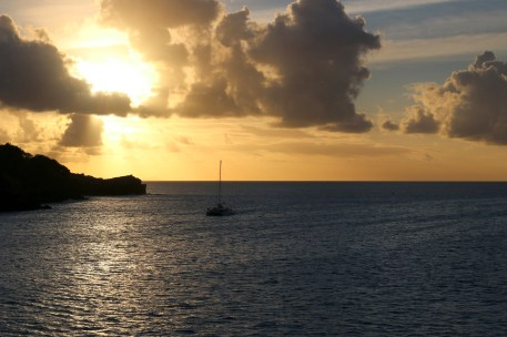 Late afternoon, just off St. Lucia.