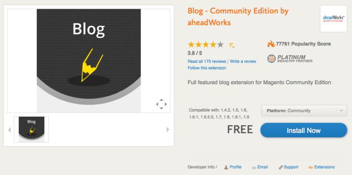 estensione blog magento