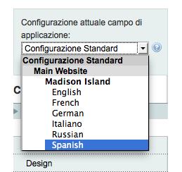 configurazione magento multilingua spagnolo