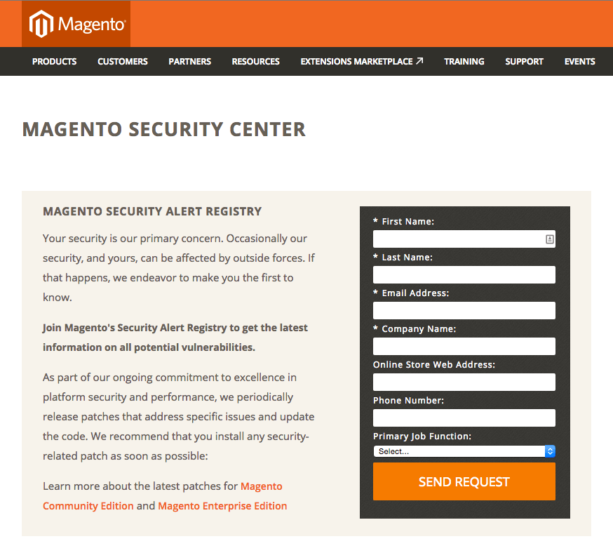 Magento Security Center