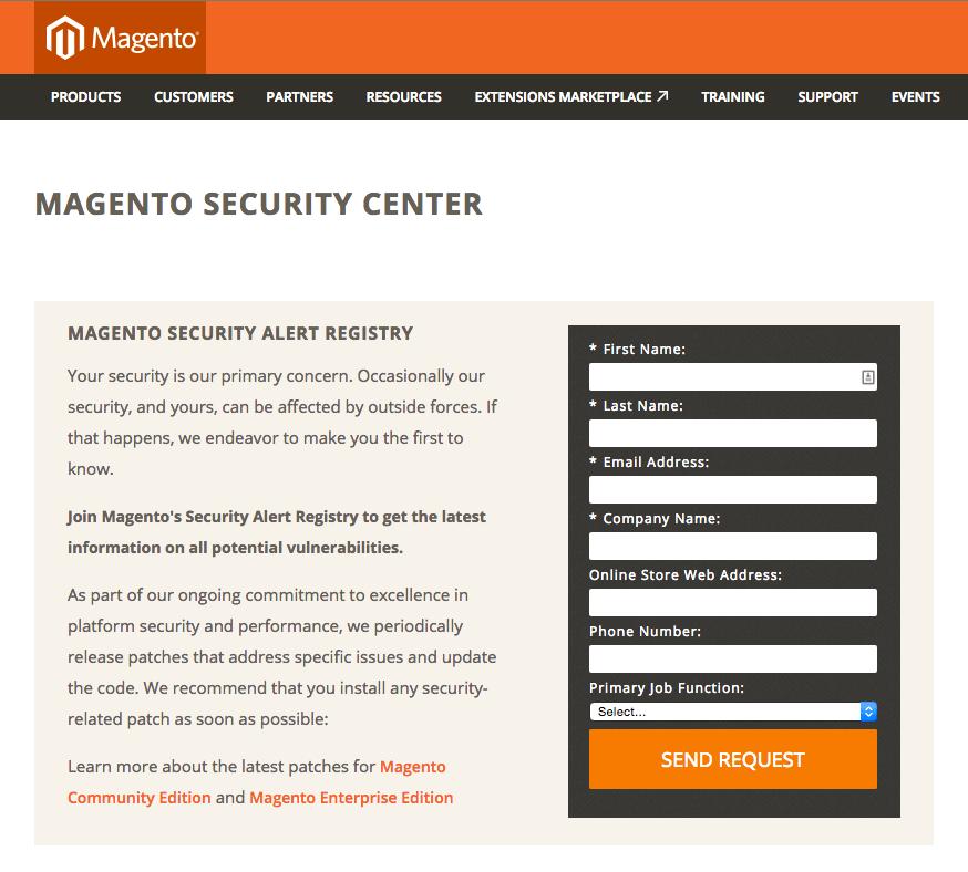 Magento Security Center