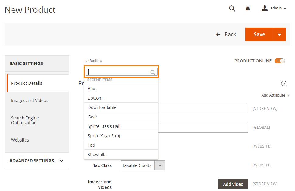 Scelta-template-prodotto-virtuale-magento2