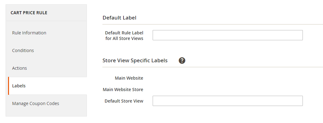 How to Create a Cart Price Rule Cart Labels